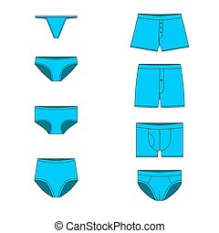 set underwear for men and women