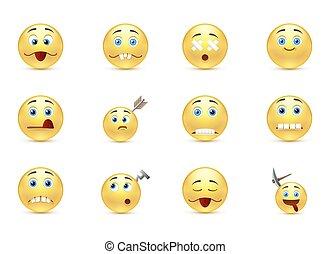Set unhealthy funny smiles - Funny set unhealthy smiles
