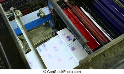 set up print shop machine detail cmyk colors