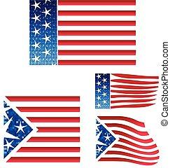 Set USA flags