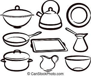 set, utensile cucina