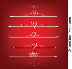Set Valentine's Day Design Element
