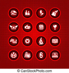 Set valentine's day icons