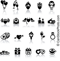 Set valentine's day icons, vector
