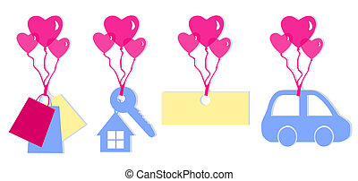 Set Valentines Tags