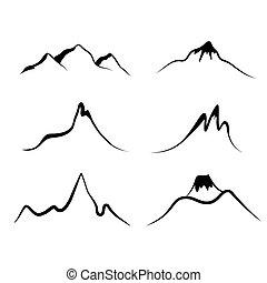 set, van, bergen
