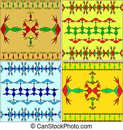 Stijlen set bloem arabisch versieringen oosten vector for Van nederlands naar arabisch