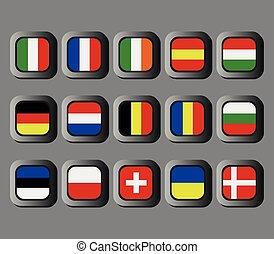 set, van, europees verslapt