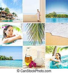 set, van, foto's, over, thailand., de zomervakantie, kansen, in, thailand.