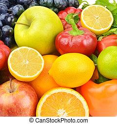 set, van, fruit en groenten