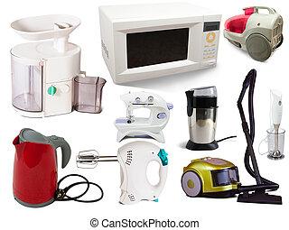 set, van, huishouden appliances