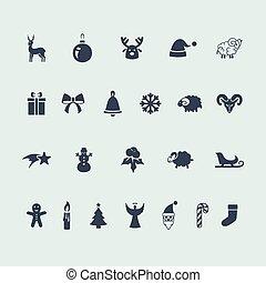 set, van, iconen