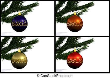 set, van, kerstmis, gelul
