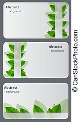 set, van, natuur, cadeau, cards.vector, illustratie