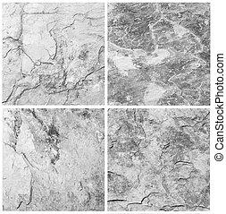 set, van, steen, achtergrond, en, textuur, (high, resolution)., grijs, colo