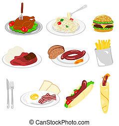 set, van, voedingsmiddelen