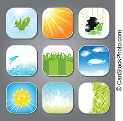 Set various backgrounds for the app icons