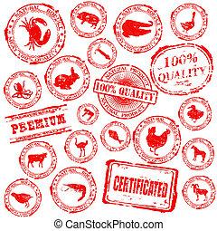 Set various grunge rubber stamp wit