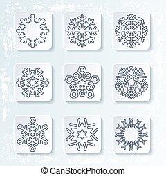 Set various snowflakes