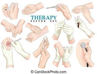 set., vecteur, therapy.