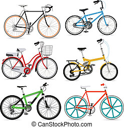 set., vecteur, vélo, illustration.