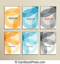 Set vector abstract color circle pattern background