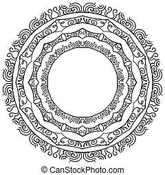 set, vector, achtergrond, lijstjes, witte , ronde