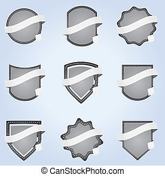 Set vector banner ribbon