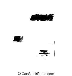Set vector brush stroke grunge