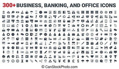 Set vector business, banking and finance icons
