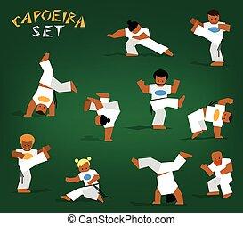 set, vector, capoeira