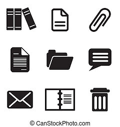 set vector computer icons of email message and letter