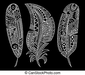 Set vector feather