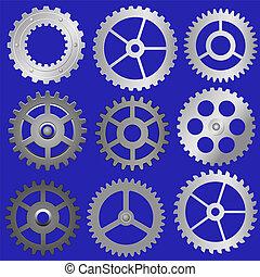 set vector gears
