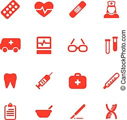Set vector icons for medical.