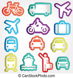 Set vector icons work