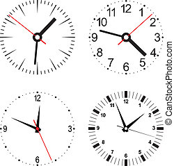 Set vector illustration of clock