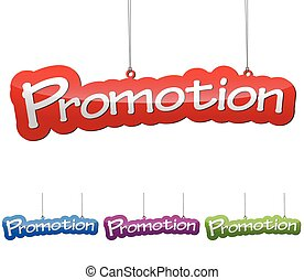 Set vector illustrations isolated tag banner promotion in four color variant red, blue, purple and green. This element is wel adapted for web design.