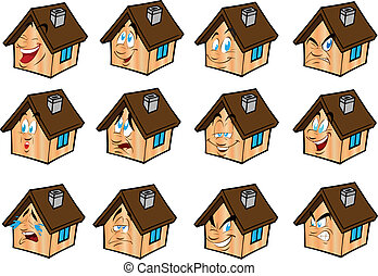Set vector illustrations little house