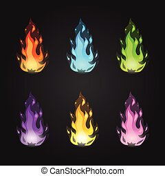 Set vector magic fire
