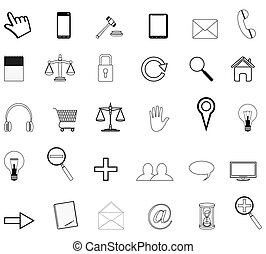 set vector of business icons