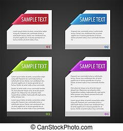 set, vector, ontwerp, elements.