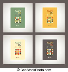 Set vector simple brochure design for your report