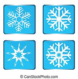 Set vector snowflake
