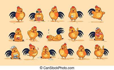 Emoji character cartoon Cock