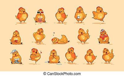 Emoji character cartoon Hen