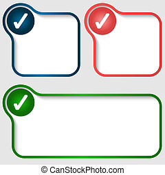 set vector text frame with check box