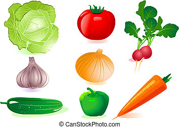 set vegetables
