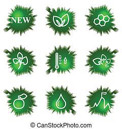 set., verde, agujero, iconos