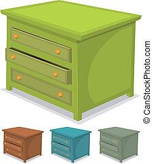 set, verde, gabinetto